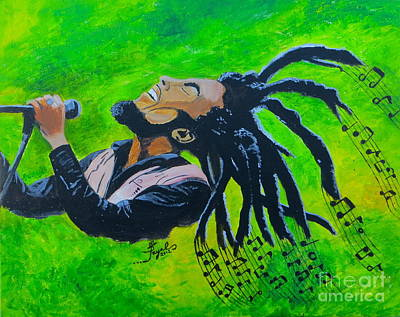 Painting - Bob Marley by Artistic Indian Nurse