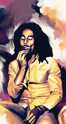 Reggae Art Painting - Bob Marley Artwork 3 by Sheraz A