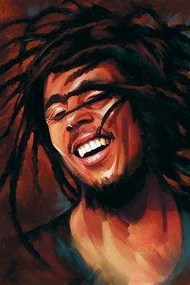 Reggae Art Painting - Bob Marley Artwork by Sheraz A