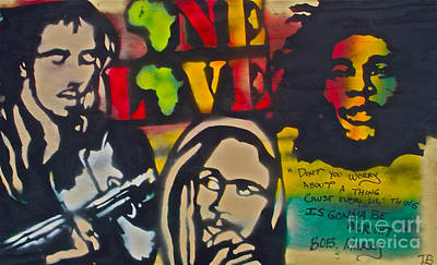 Sit-ins Painting - Bob Marley Big by Tony B Conscious