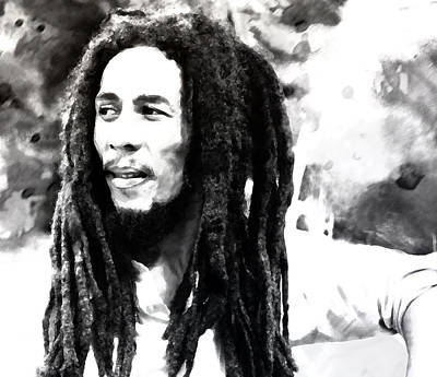 Jamaican Painting - Bob Marley by Brian Reaves