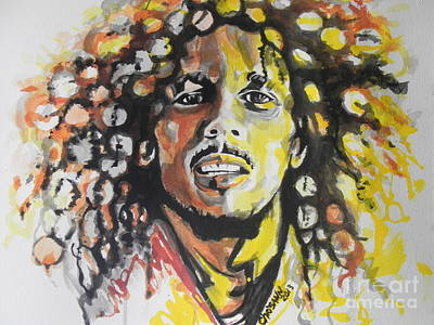 Painting - Bob Marley 02 by Chrisann Ellis