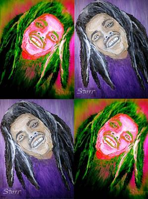 Acclaim Painting - Bob Marley Collage by Irving Starr