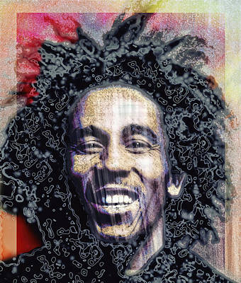 Jamaican Digital Art - Bob Marley by Daniel Hagerman