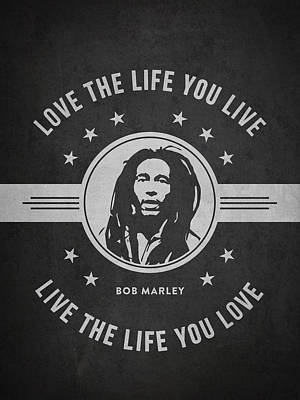 Autographed Drawing - Bob Marley - Dark by Aged Pixel