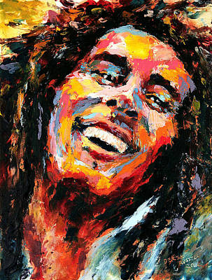 Vibrance Painting - Bob Marley by Derek Russell