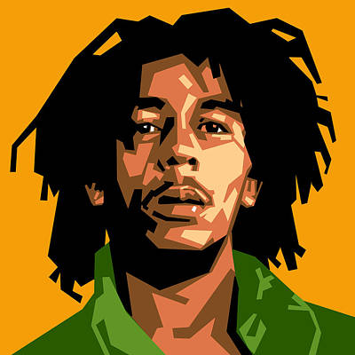 Rasta Digital Art - Bob Marley by Douglas Simonson