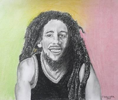 Bob Marley Art Print by E White