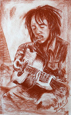 Drawing - Bob Marley - Exercise  by Miguel Rodriguez