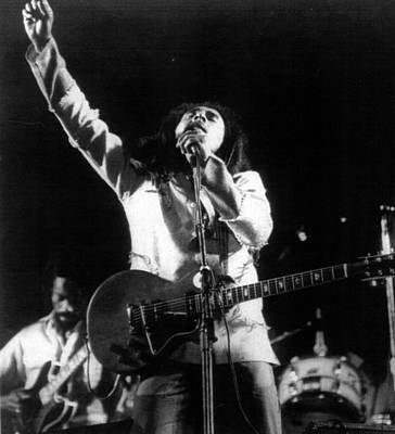 Guitarist Photograph - Bob Marley Fist Raised by Retro Images Archive