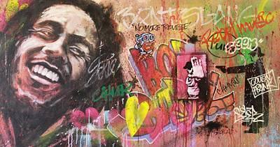 Singer Painting - Bob Marley Graffiti by Bruce McLachlan