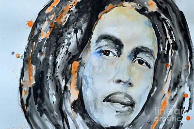 Bob Marley Abstract Painting - Bob Marley by Ismeta Gruenwald