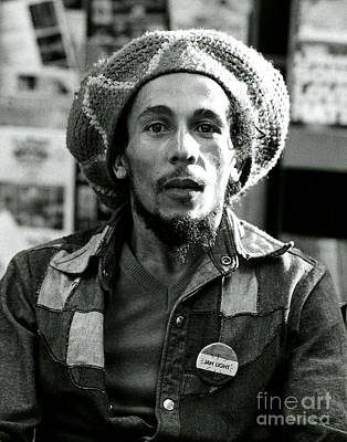 Rock And Roll Photograph - Bob Marley Jah Light by Chris Walter