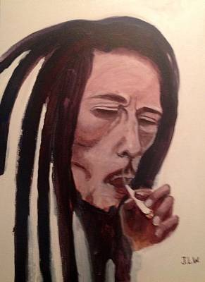 Art Print featuring the painting Bob Marley by Justin Lee Williams