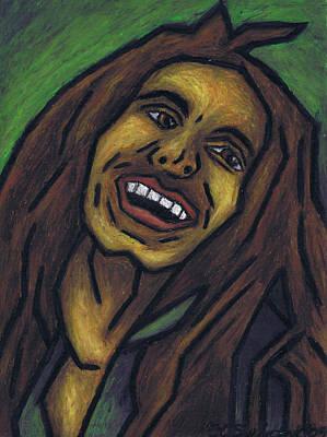 Bob Marley Abstract Painting - Bob Marley by Kamil Swiatek