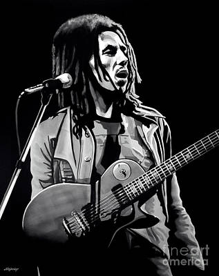 Icons Mixed Media - Bob Marley Tuff Gong by Meijering Manupix