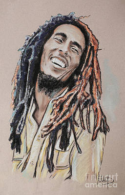 Singer Drawing - Bob Marley by Melanie D