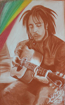 Drawing - Bob Marley by Miguel Rodriguez