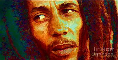 Painting - Bob Marley One And Only by Alexandra Jordankova