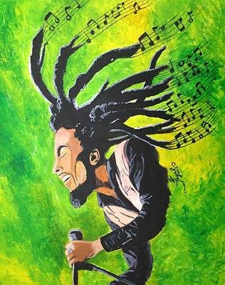 Painting - Bob Marley - One With The Music by Artistic Indian Nurse