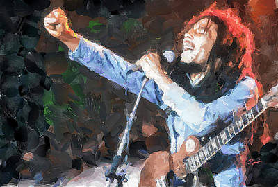 Painting - Bob Marley Painting by Charlie Roman