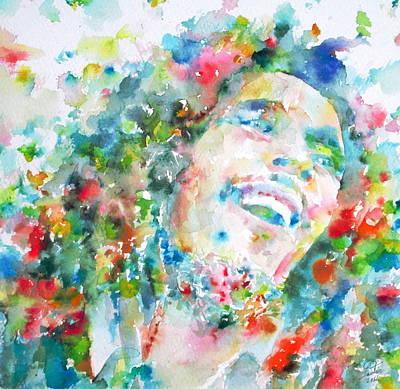Rastafari Painting - Bob Marley - Portrait by Fabrizio Cassetta