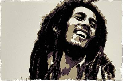Painting - Bob Marley Poster Art by Florian Rodarte