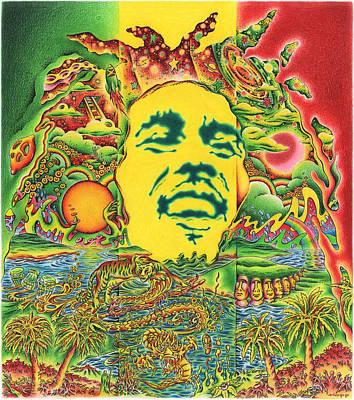 Painting - Bob Marley - Rainbow Country by Jeff Hopp