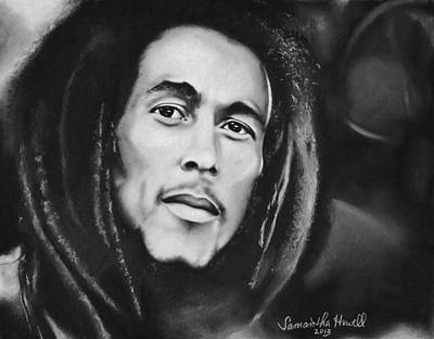 Famous Women Singers Drawing - Bob Marley by Samantha Howell