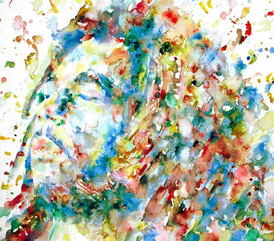 Dread Painting - Bob Marley - Watercolor Portrait by Fabrizio Cassetta