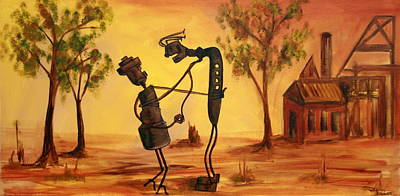 Painting - Bob 'n' Betty - Broken Hill by Lyndsey Hatchwell