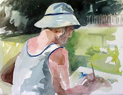 Painting - Bob Painting 1981 by Linda Novick