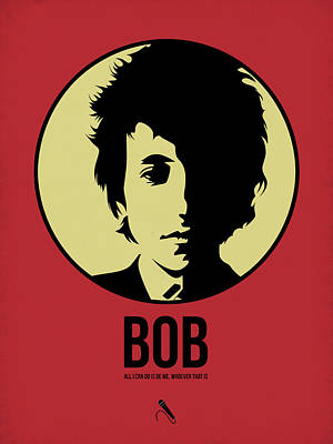 Bob Dylan Digital Art - Bob Poster 1 by Naxart Studio