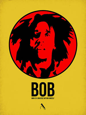 Rasta Digital Art - Bob Poster 4 by Naxart Studio