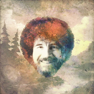 Homage Digital Art - Bob Ross by Filippo B