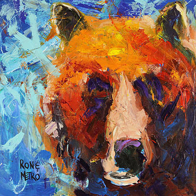 Wall Art - Painting - Bob The Bear by Ron and Metro