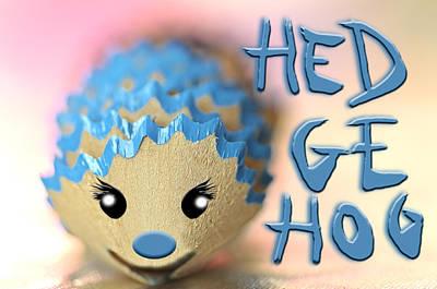Photograph - Kids Room Decoration Reciclyng Pencils - Bob The Hedgehog by Pedro Cardona Llambias