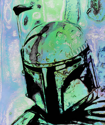 Boba Fett 2 Print by  Fli Art