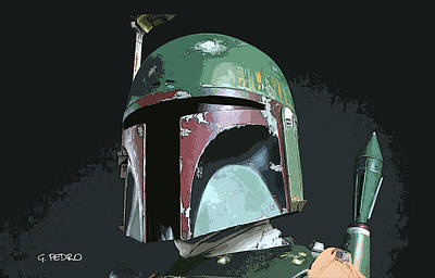 Painting - Boba Fett Portrait by George Pedro