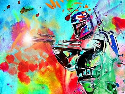 Boba Fett Star Wars Art Print