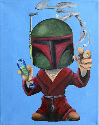 Painting - Boba Hef by Chris  Leon