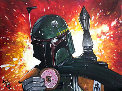Boba Fett Painting - Boba With Sprinkles by Tom Carlton