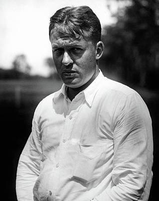 Button Down Shirt Photograph - Bobby Jones At The Winged Foot Country Club by Artist Unknown