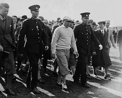 Bobby Jones Walking Being Escorted By Police Art Print by Artist Unknown