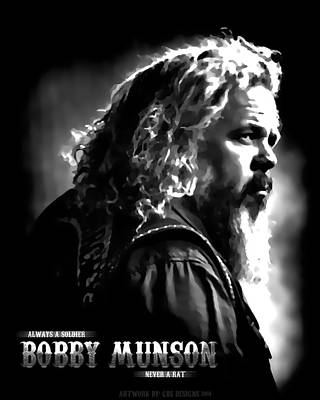 Sons Of Anarchy Digital Art - Bobby Munson - Sons Of Anarchy by Anibal Diaz