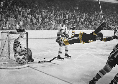 Sports Royalty-Free and Rights-Managed Images - Bobby Orr 2 by Andrew Fare