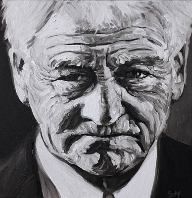 Bobby Robson Art Print by Steve Hunter