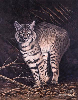 Bobcats Painting - Bobcat by Ricardo Chavez-Mendez