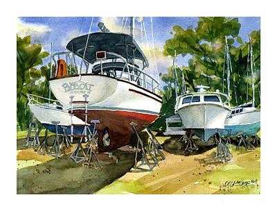 Bobcat Sail Art Print