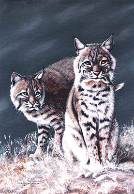Bobcats In The Hood Art Print by DiDi Higginbotham